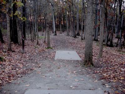 Hudson Mills Metropark, Original course, Hole 12 Long tee pad