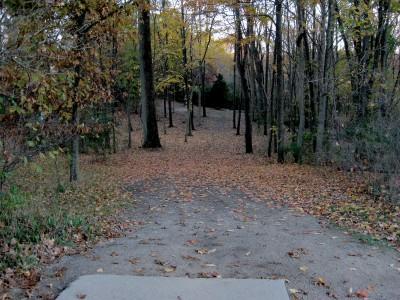 Hudson Mills Metropark, Original course, Hole 7 Short tee pad