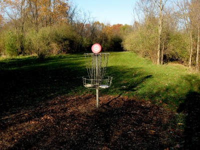 Hudson Mills Metropark, Original course, Hole 1 Reverse (back up the fairway)