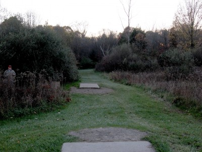 Hudson Mills Metropark, Original course, Hole 10 Long tee pad