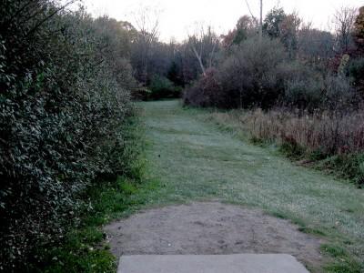 Hudson Mills Metropark, Original course, Hole 10 Short tee pad