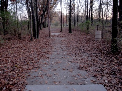 Hudson Mills Metropark, Original course, Hole 17 Long tee pad