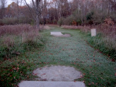 Hudson Mills Metropark, Original course, Hole 16 Long tee pad