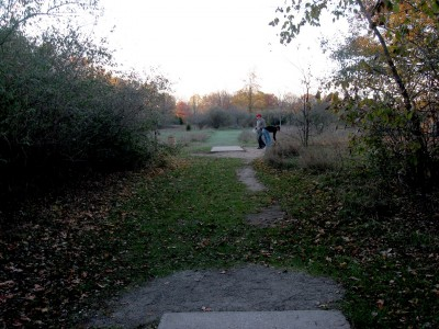 Hudson Mills Metropark, Original course, Hole F Long tee pad