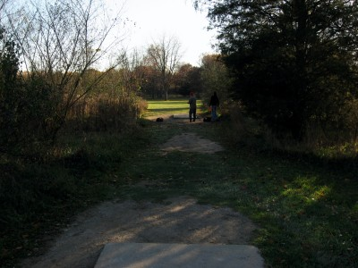 Hudson Mills Metropark, Original course, Hole 2 Long tee pad