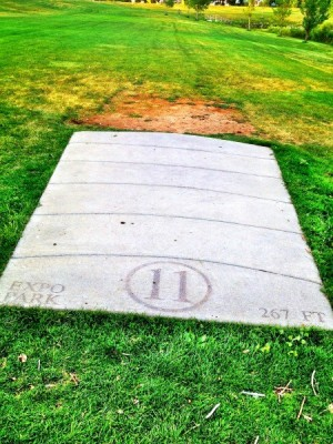 Exposition Park, Main course, Hole 11 Tee pad