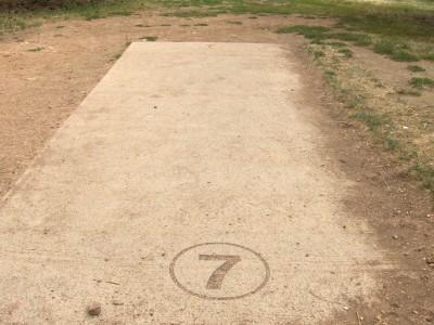 Harlow Platts Park, Main course, Hole 7 Tee pad