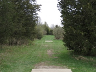 Hudson Mills Metropark, Monster course, Hole E Long tee pad