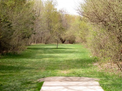 Hudson Mills Metropark, Monster course, Hole B Short tee pad