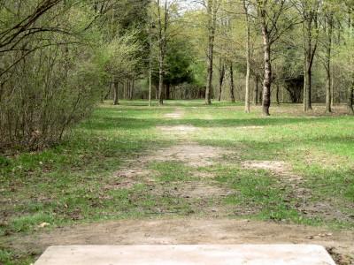 Hudson Mills Metropark, Monster course, Hole A Short tee pad