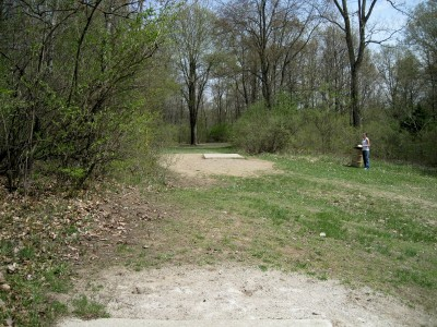 Hudson Mills Metropark, Monster course, Hole 5 Long tee pad