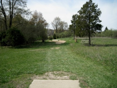 Hudson Mills Metropark, Monster course, Hole 7 Long tee pad