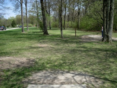 Hudson Mills Metropark, Monster course, Hole 2 Long tee pad