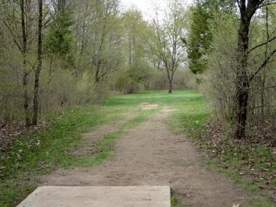 Hudson Mills Metropark, Monster course, Hole C Short tee pad