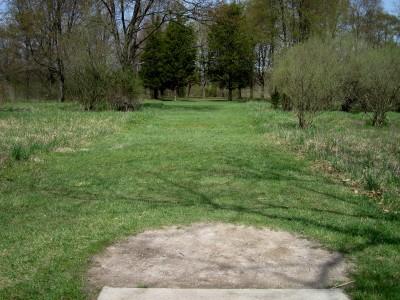 Hudson Mills Metropark, Monster course, Hole 11 Short tee pad