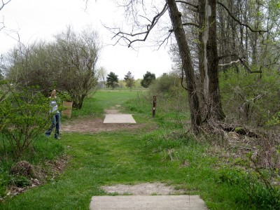 Hudson Mills Metropark, Monster course, Hole 17 Long tee pad