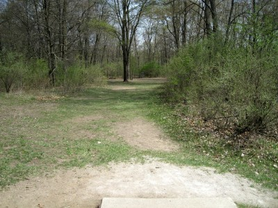 Hudson Mills Metropark, Monster course, Hole 5 Short tee pad