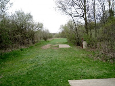 Hudson Mills Metropark, Monster course, Hole F Long tee pad