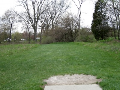 Hudson Mills Metropark, Monster course, Hole 18 Short tee pad