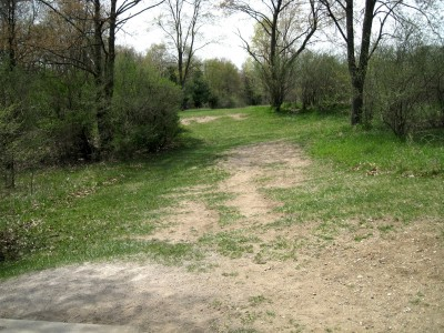 Hudson Mills Metropark, Monster course, Hole 8 Short tee pad