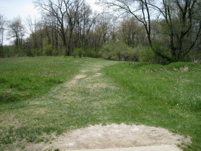 Hudson Mills Metropark, Monster course, Hole 3 Short tee pad