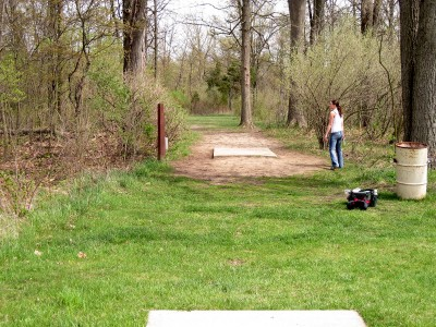 Hudson Mills Metropark, Monster course, Hole 13 Long tee pad