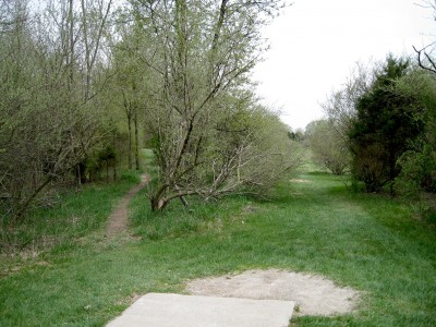 Hudson Mills Metropark, Monster course, Hole 15 Short tee pad