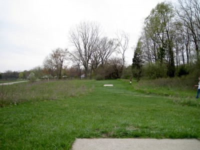 Hudson Mills Metropark, Monster course, Hole 18 Long tee pad