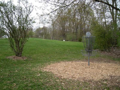 Hudson Mills Metropark, Monster course, Hole 18 Reverse (back up the fairway)