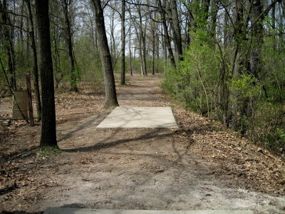 Hudson Mills Metropark, Monster course, Hole 6 Long tee pad