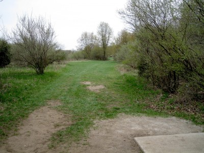 Hudson Mills Metropark, Monster course, Hole F Short tee pad