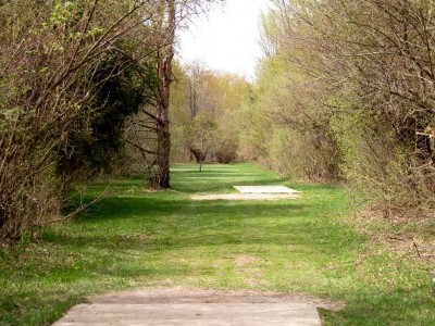 Hudson Mills Metropark, Monster course, Hole B Long tee pad
