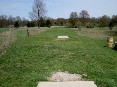 Hudson Mills Metropark, Monster course, Hole 9 Long tee pad