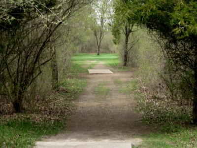 Hudson Mills Metropark, Monster course, Hole C Long tee pad