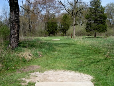Hudson Mills Metropark, Monster course, Hole 11 Long tee pad