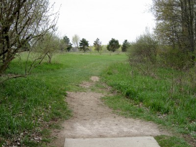 Hudson Mills Metropark, Monster course, Hole 17 Short tee pad
