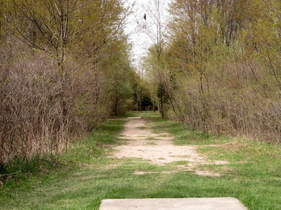 Hudson Mills Metropark, Monster course, Hole A Long tee pad