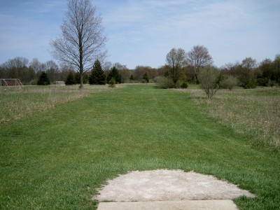 Hudson Mills Metropark, Monster course, Hole 9 Short tee pad