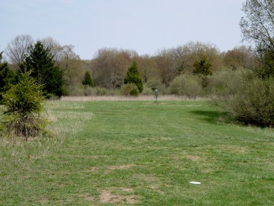 Hudson Mills Metropark, Monster course, Hole 9 Midrange approach