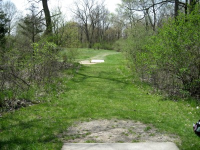 Hudson Mills Metropark, Monster course, Hole 3 Long tee pad