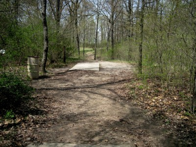 Hudson Mills Metropark, Monster course, Hole 4 Long tee pad
