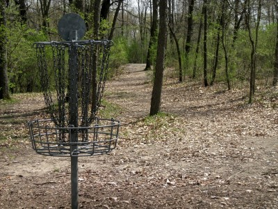 Hudson Mills Metropark, Monster course, Hole 6 Reverse (back up the fairway)