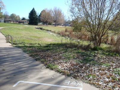 Widefield Park, Main course, Hole 3 Short tee pad