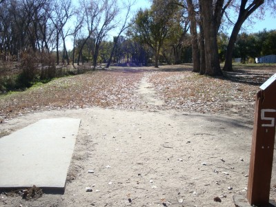 Widefield Park, Main course, Hole 5 Tee pad