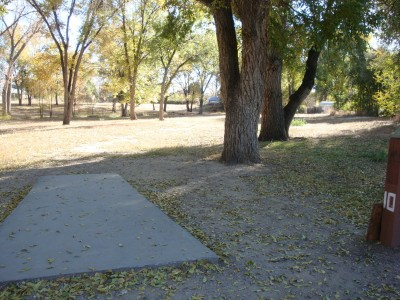 Widefield Park, Main course, Hole 10 Tee pad