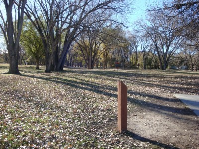 Widefield Park, Main course, Hole 16 Short tee pad