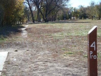 Widefield Park, Main course, Hole 4 Long tee pad