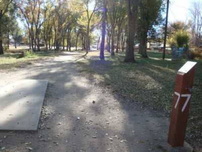 Widefield Park, Main course, Hole 7 Tee pad