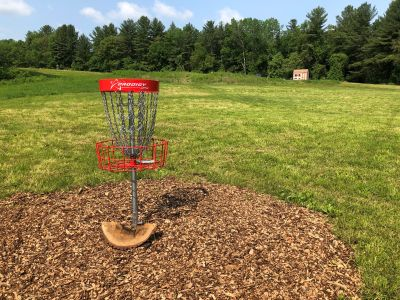 New England Disc Golf Center, Calico Creek, Hole 12 Reverse (back up the fairway)