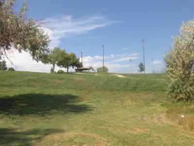 Camenisch Park, Badlands, Hole 2 Tee pad